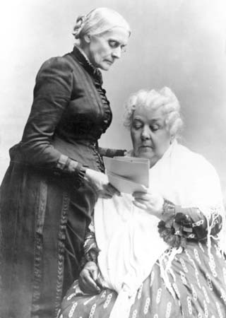Susan B Anthony and Elizabeth Cady