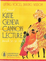 2008 Katie Geneva Cannon Lecture program featuring artwork by Alice Gatewood-Waddell