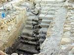Qumran mikvah shows earthquake damage