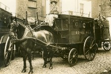 Woman driving Royal Mail van, WWI