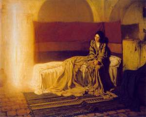 <em>The Annunciation</em>, Henry Ossawa Tanner -- The Feast of the Annunciation is March 25