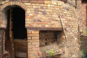 The threshold of a large kiln
