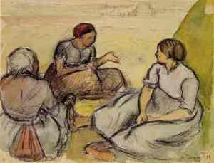 Camille Pissarro, Faneuses d'Epigny, 1896