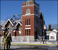 Portland Avenue Presbyterian Church in the aftermath of Jan. 16 fire