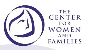 JoAnn Rowan, of the Center for Women and Families, visits the Women's Center Thursday, March 5