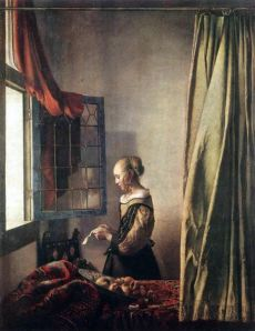 Girl Reading a Letter at an Open Window, Jan Vermeer