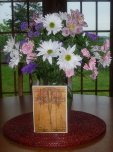 Much appreciated spring flowers with card