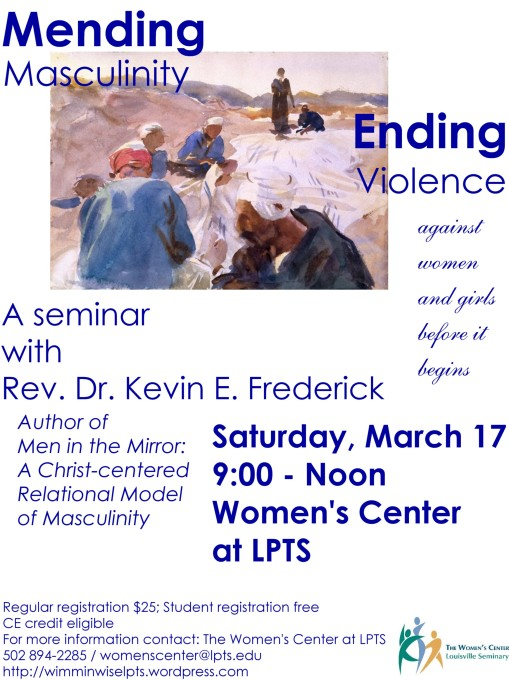 Seminar Saturday, March 17, 2012 9-noon in the Women's Center