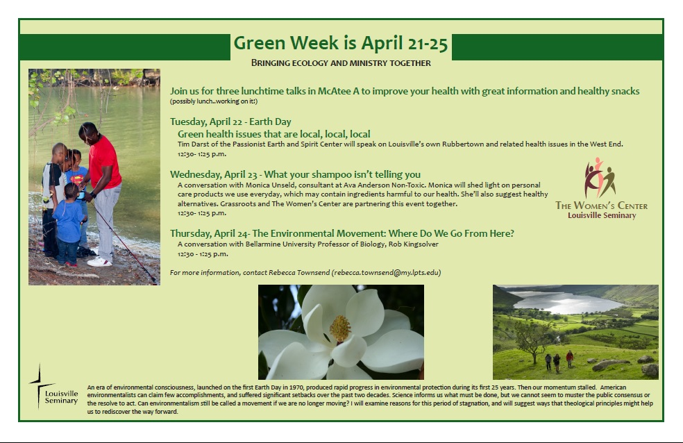 LPTS Women's Center Partners with LPTS Sustainability to Promote Green Week Events Held in The Winn Center