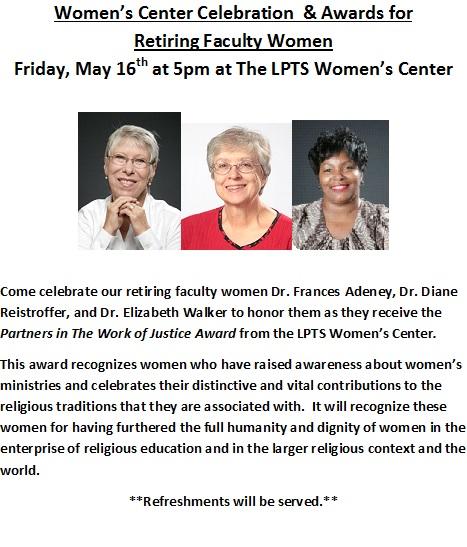 Retiring Faculty Women Celebration & Justice Awards